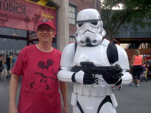 Storm Troopers and an Admiring Fan of the Dark Side