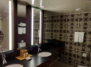 bathroom with double sinks